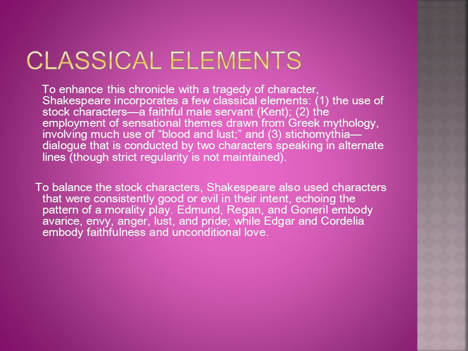 Classical Elements