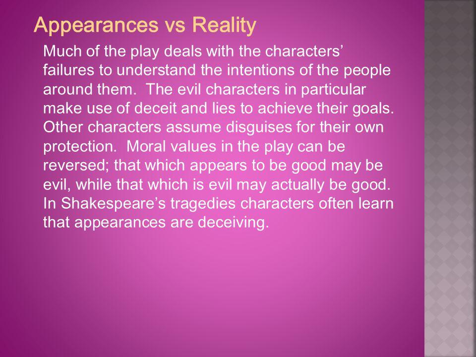 Appearances vs Reality