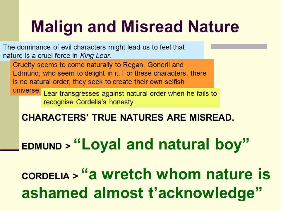 Malign and Misread Nature
