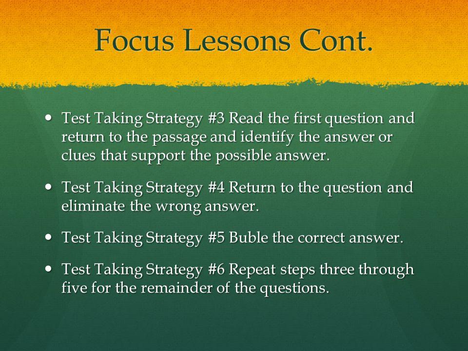 Focus Lessons Cont.