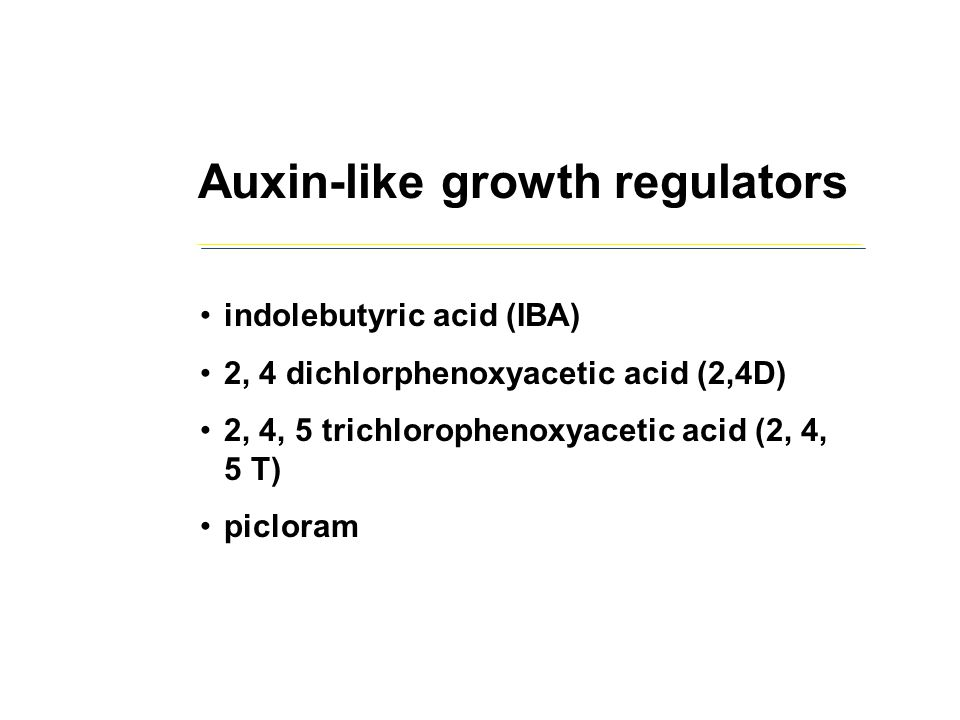 Auxin-like growth regulators