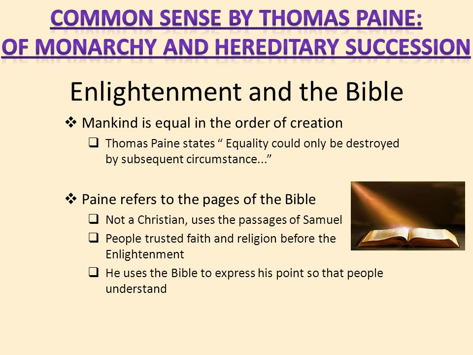 Enlightenment and the Bible