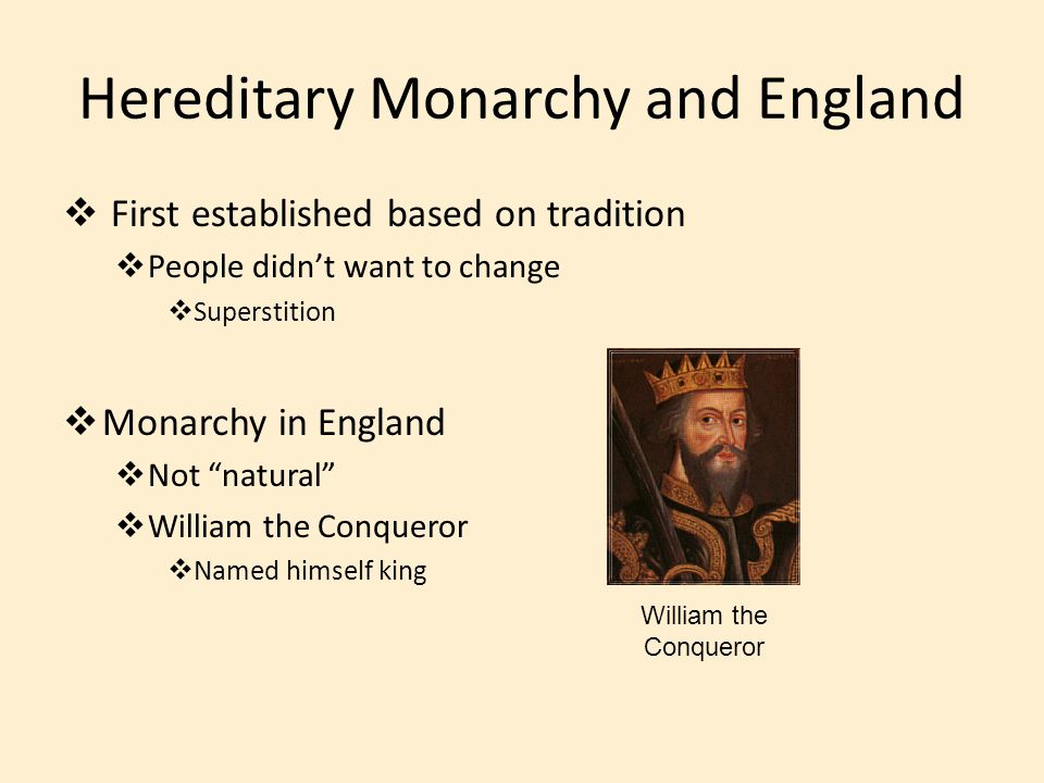 Hereditary Monarchy and England