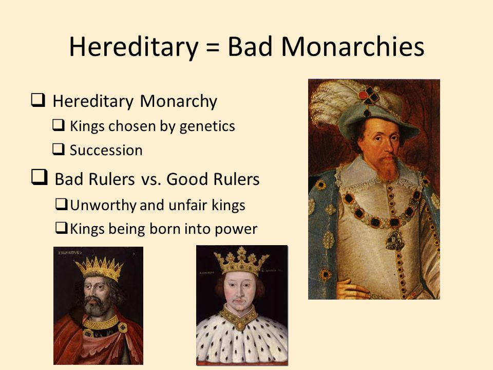 Hereditary = Bad Monarchies