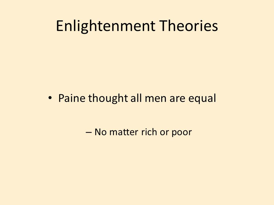 Enlightenment Theories