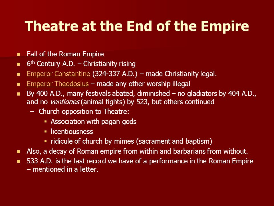 Theatre at the End of the Empire