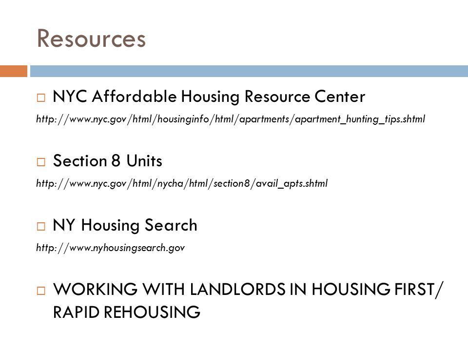 Resources NYC Affordable Housing Resource Center Section 8 Units