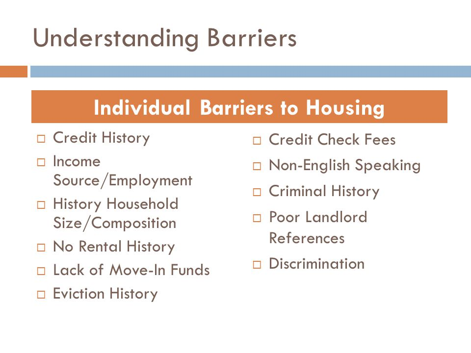 Understanding Barriers