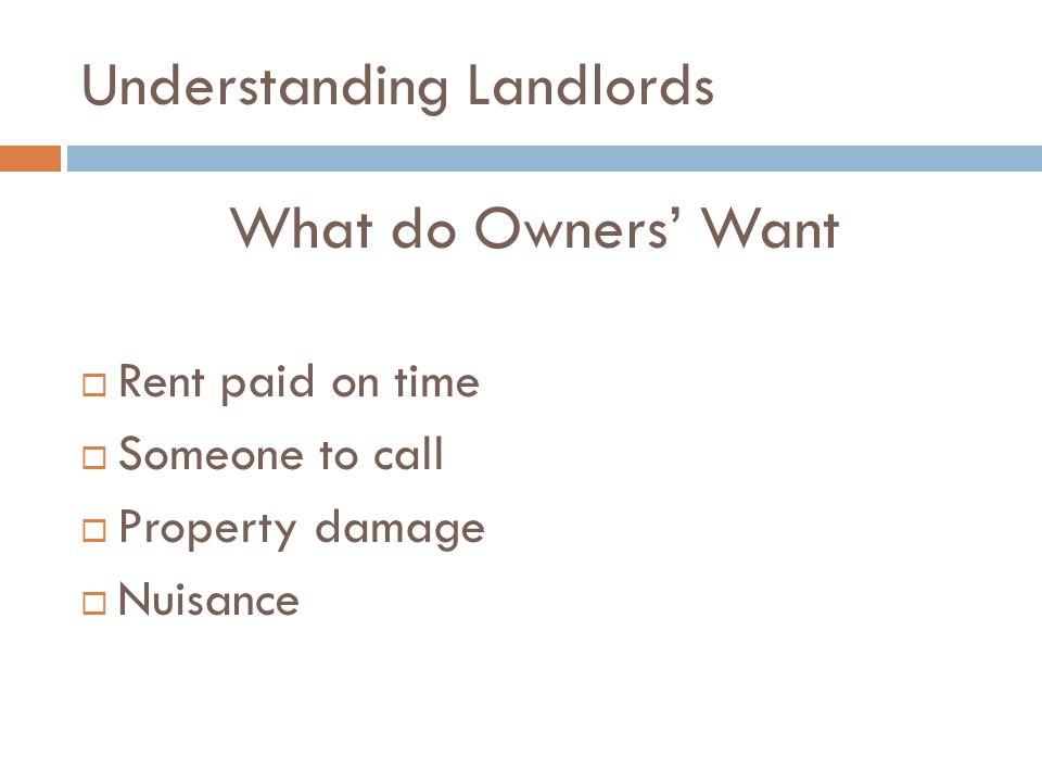 Understanding Landlords