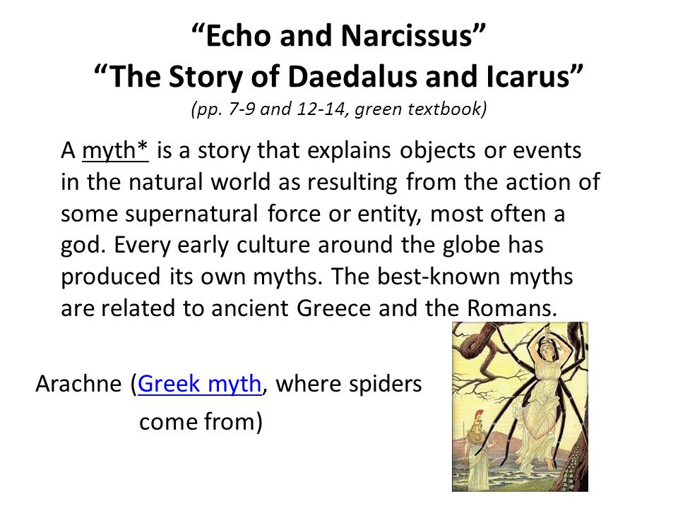 Echo and Narcissus The Story of Daedalus and Icarus (pp
