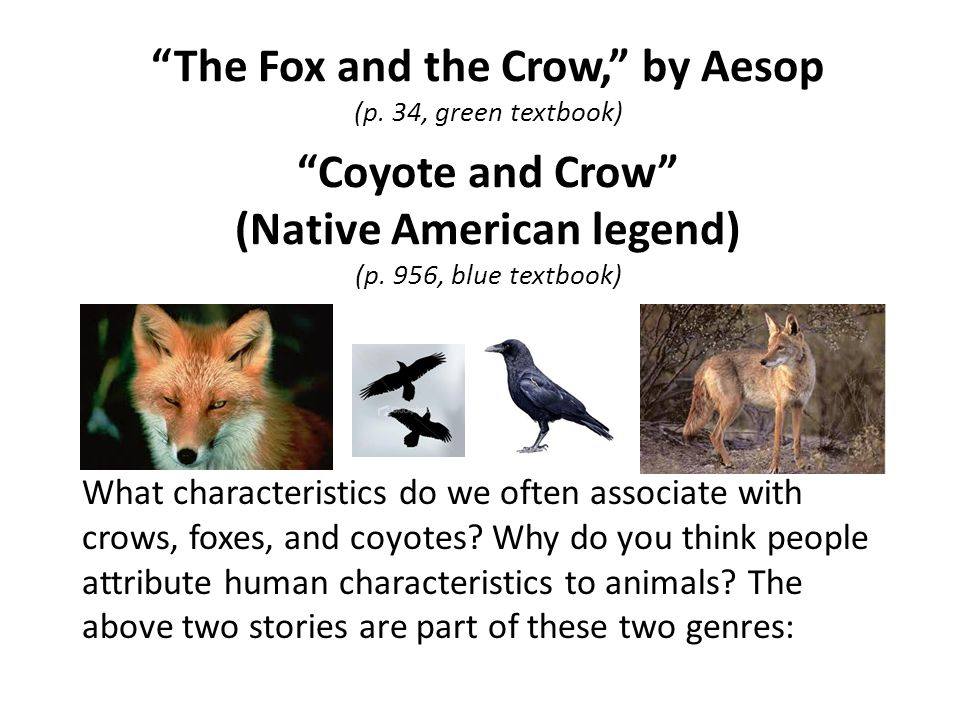 The Fox and the Crow, by Aesop (p