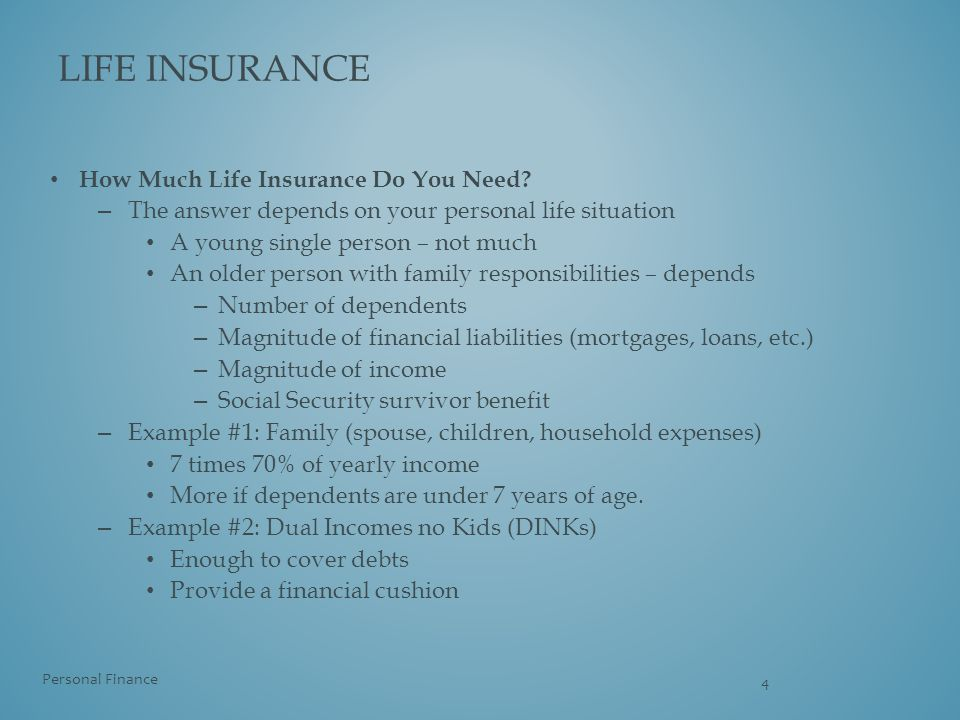 Life insurance How Much Life Insurance Do You Need