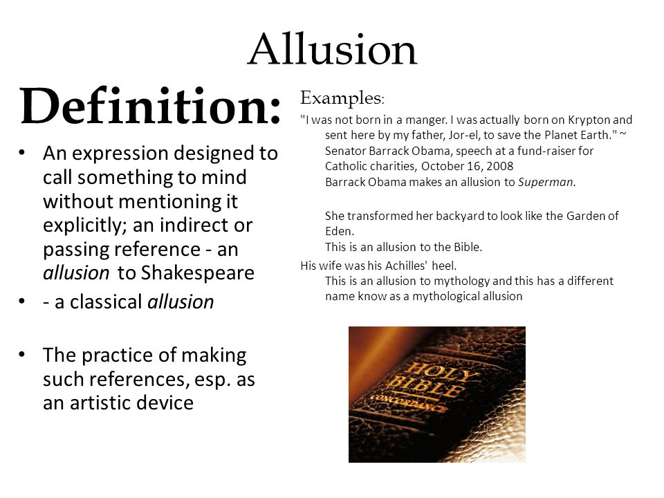 Allusion Definition Literary Term Example