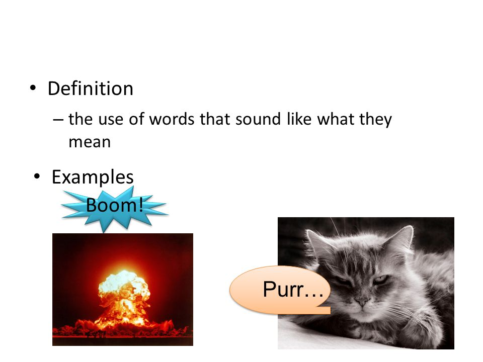 Definition Examples Boom! Purr…