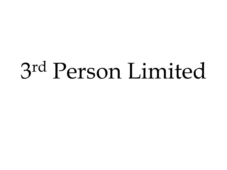 3rd Person Limited
