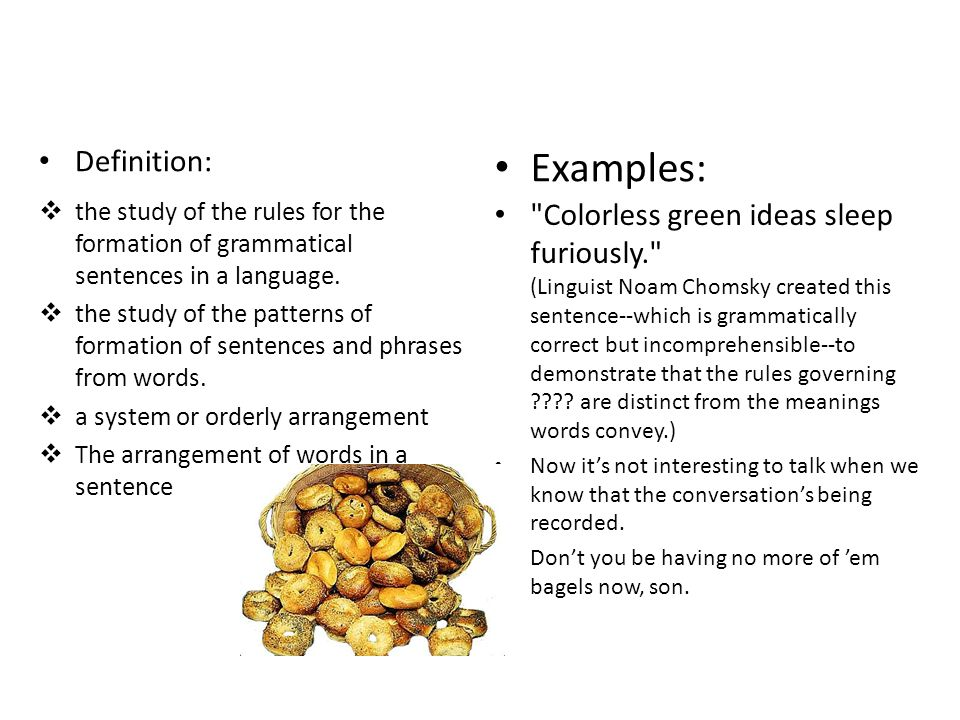 Examples: Definition:
