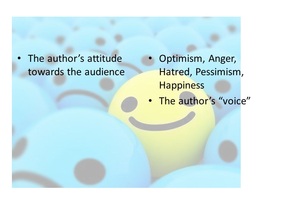 The author's attitude towards the audience
