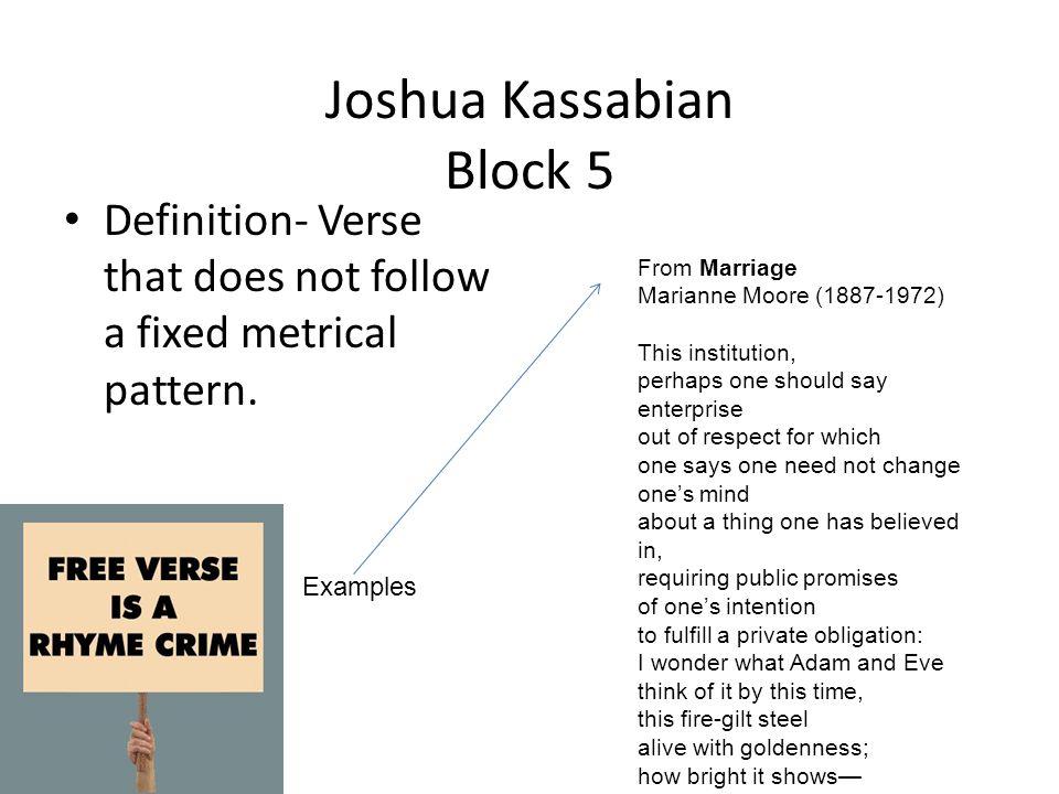 Joshua Kassabian Block 5