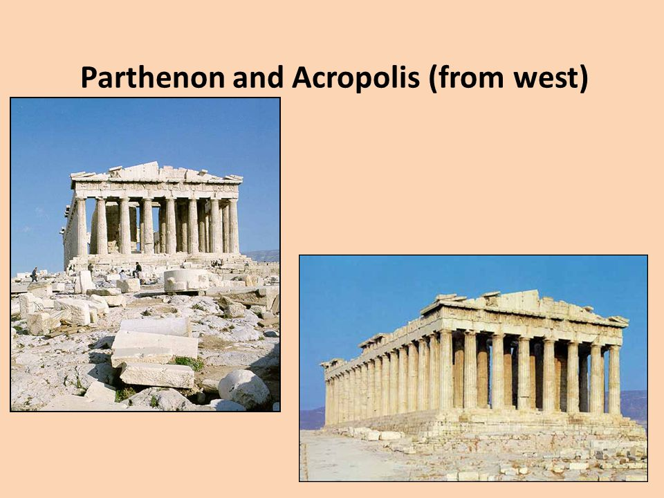 Parthenon and Acropolis (from west)