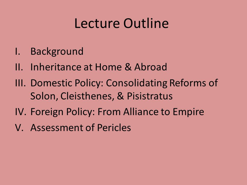 Lecture Outline Background Inheritance at Home & Abroad