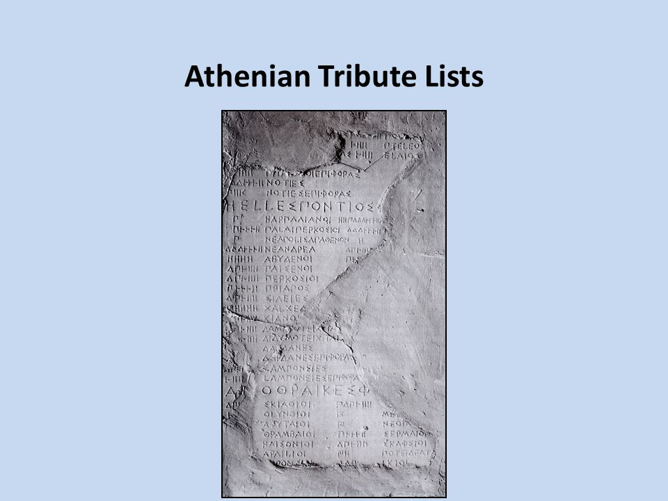 Athenian Tribute Lists