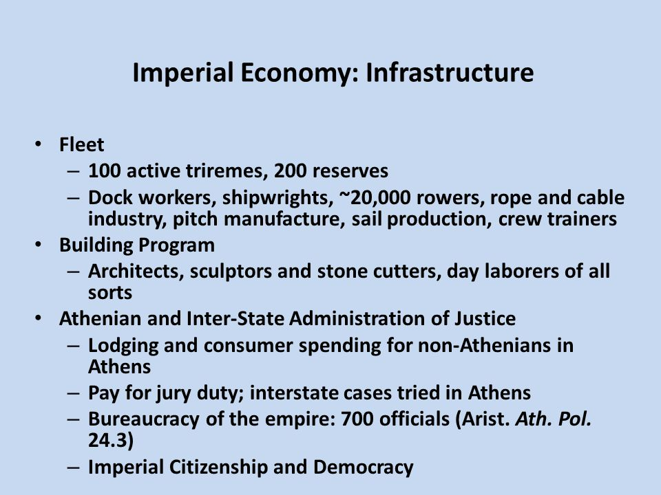 Imperial Economy: Infrastructure