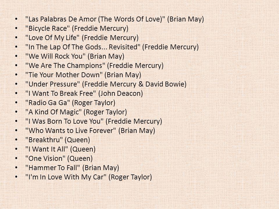 Las Palabras De Amor (The Words Of Love) (Brian May)