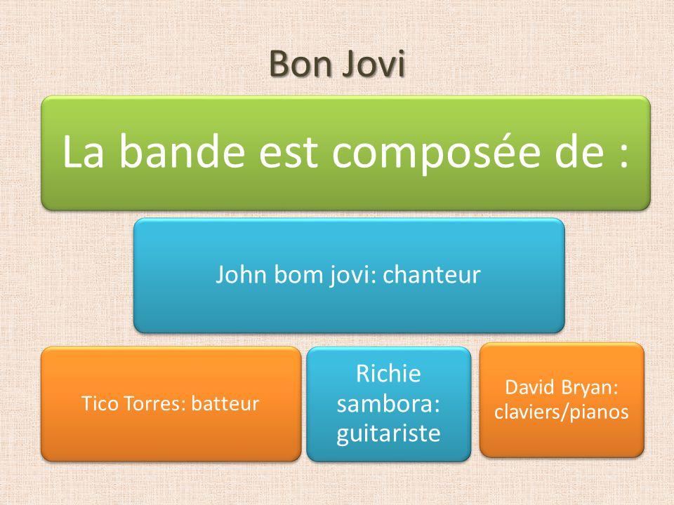 Bon Jovi La bande est composée de : John bom jovi: chanteur