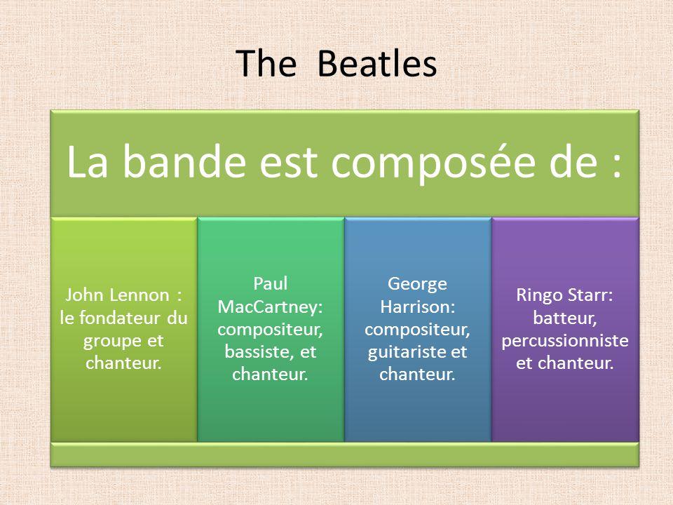 The Beatles La bande est composée de :