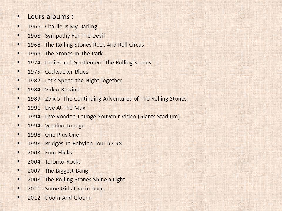 Leurs albums : 1966 - Charlie Is My Darling