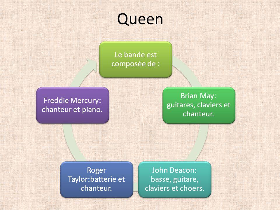 Queen Le bande est composée de :