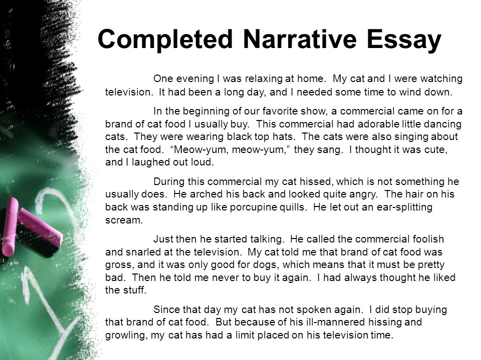 Completed Narrative Essay