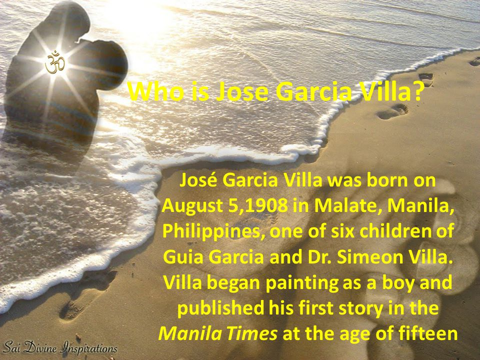 Who is Jose Garcia Villa