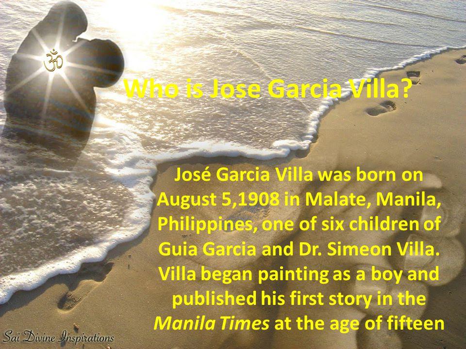 Who is Jose Garcia Villa