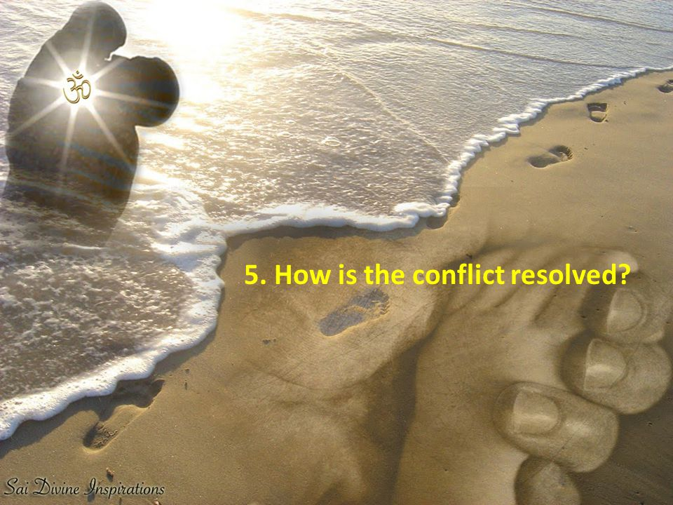 5. How is the conflict resolved