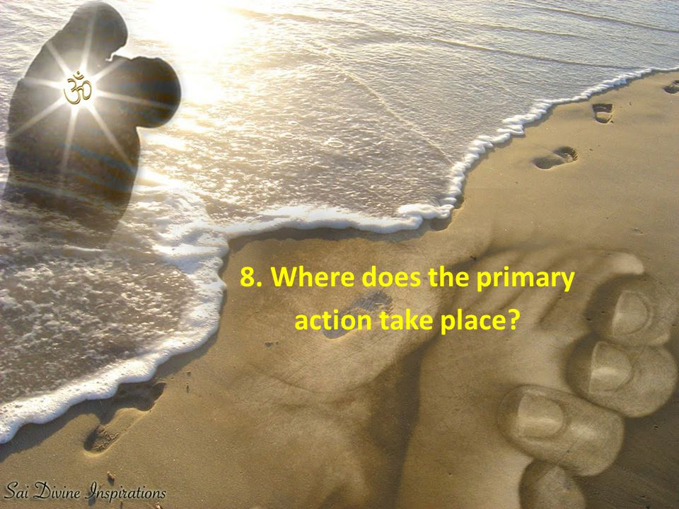 8. Where does the primary action take place