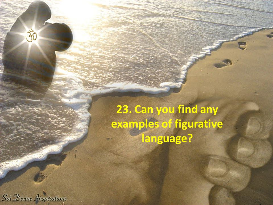 23. Can you find any examples of figurative language
