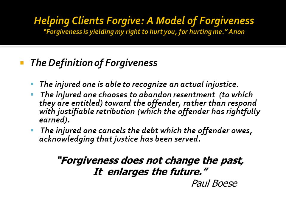 Forgiveness does not change the past, It enlarges the future.