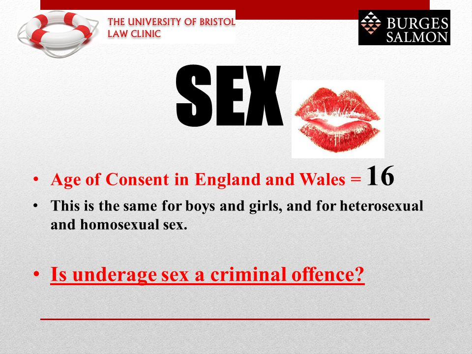 SEX Is underage sex a criminal offence