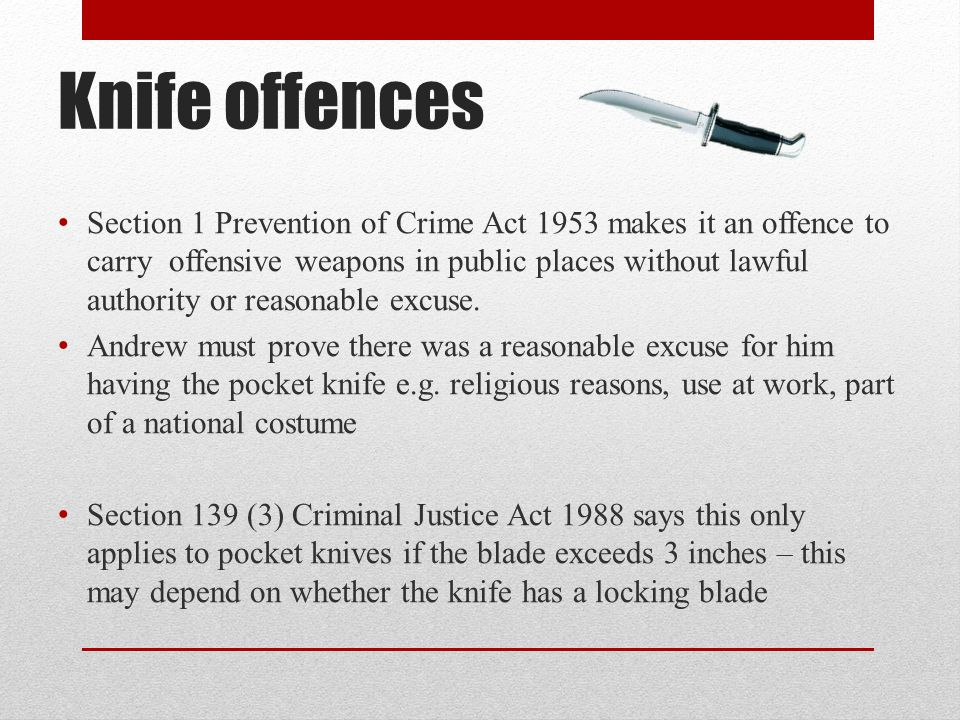 Knife offences