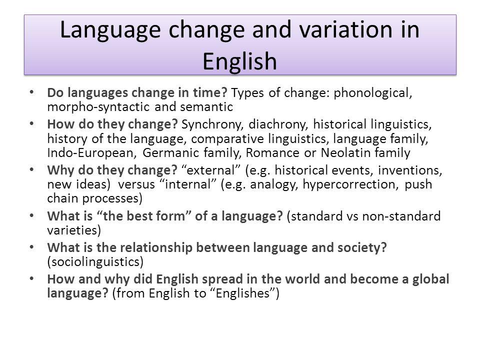 Language change and variation in English