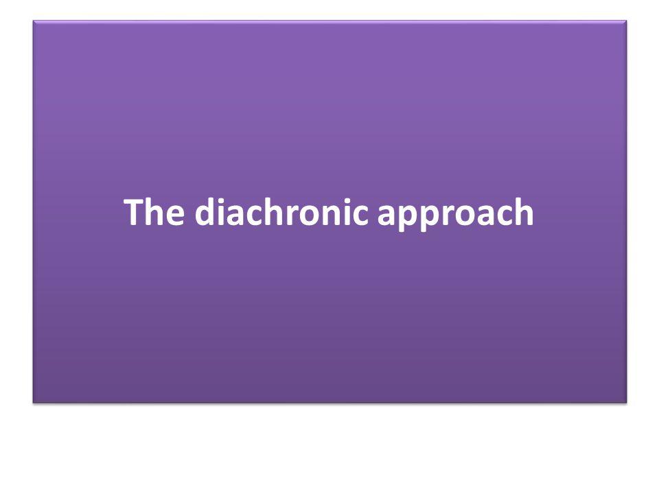 The diachronic approach