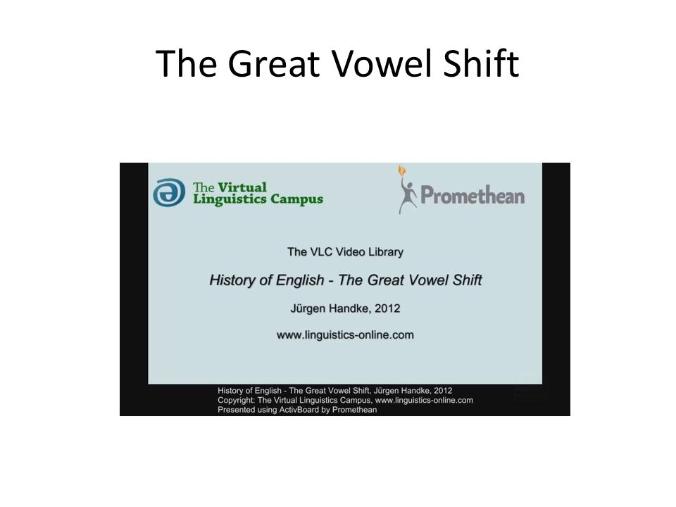 The Great Vowel Shift