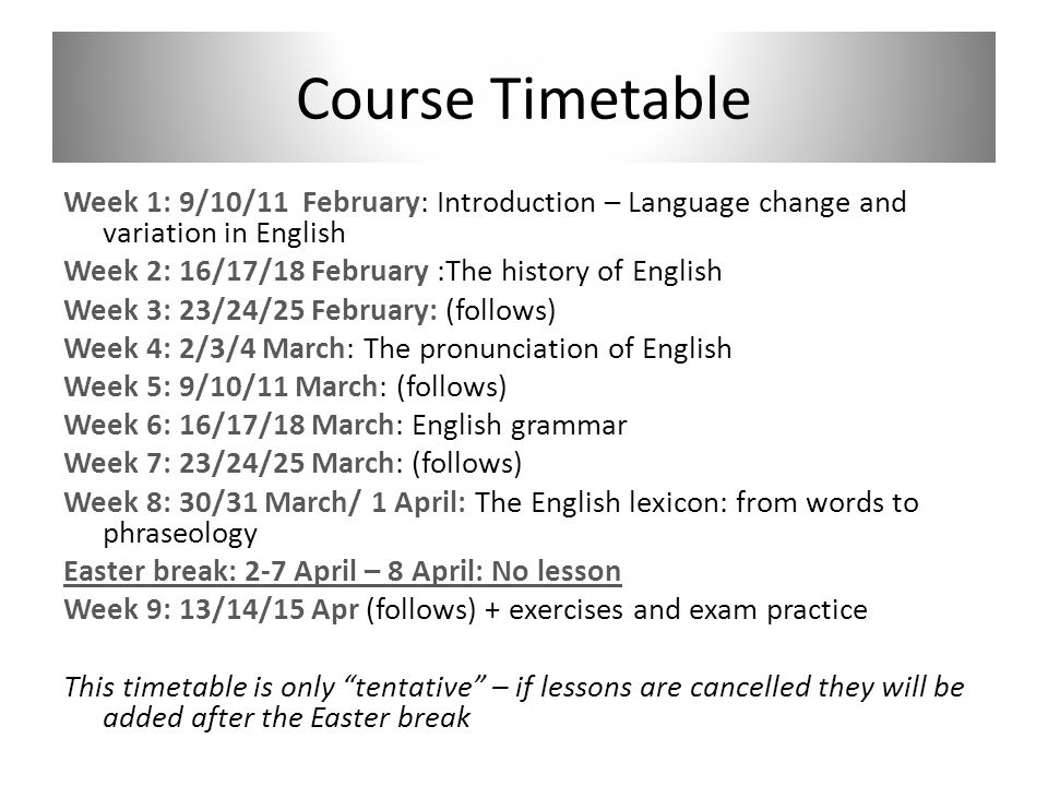 coursework timetable Planning your class timetable