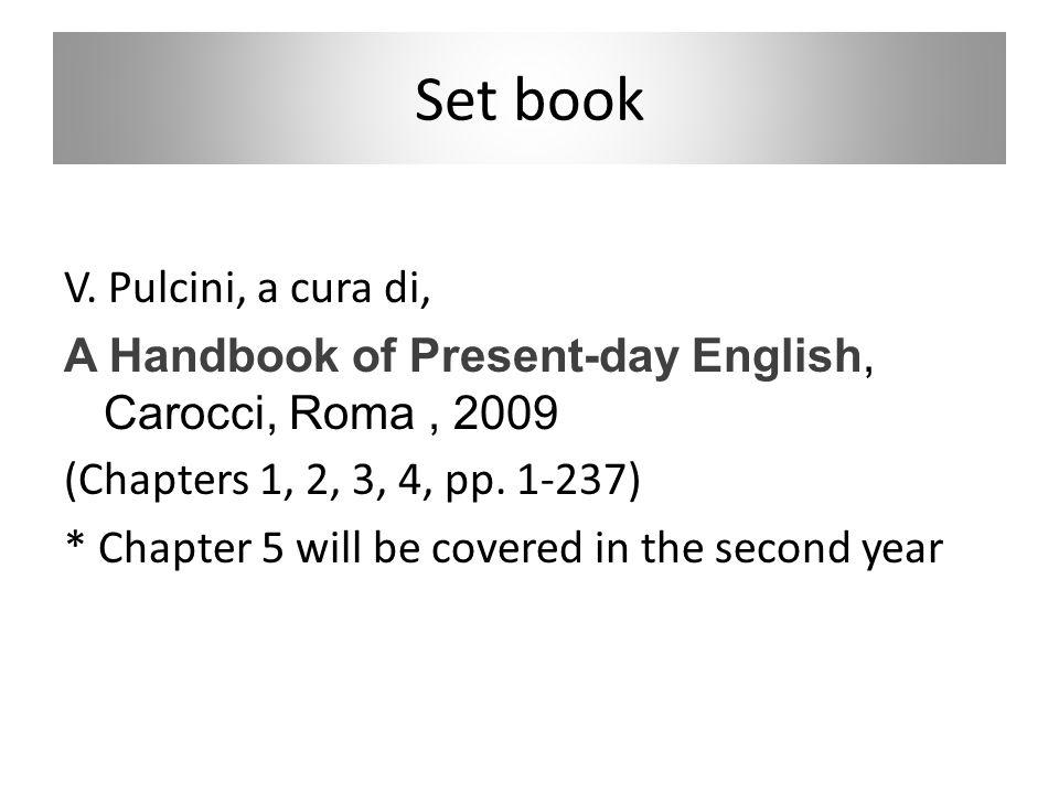 Set book V. Pulcini, a cura di,
