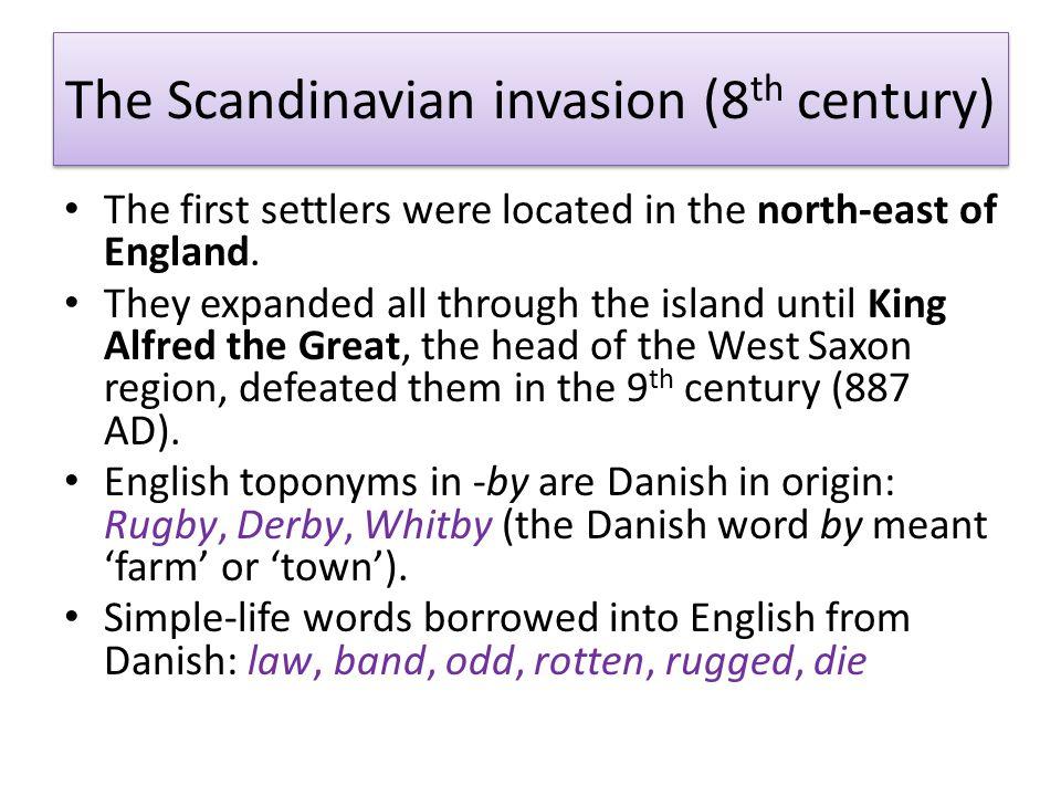 The Scandinavian invasion (8th century)