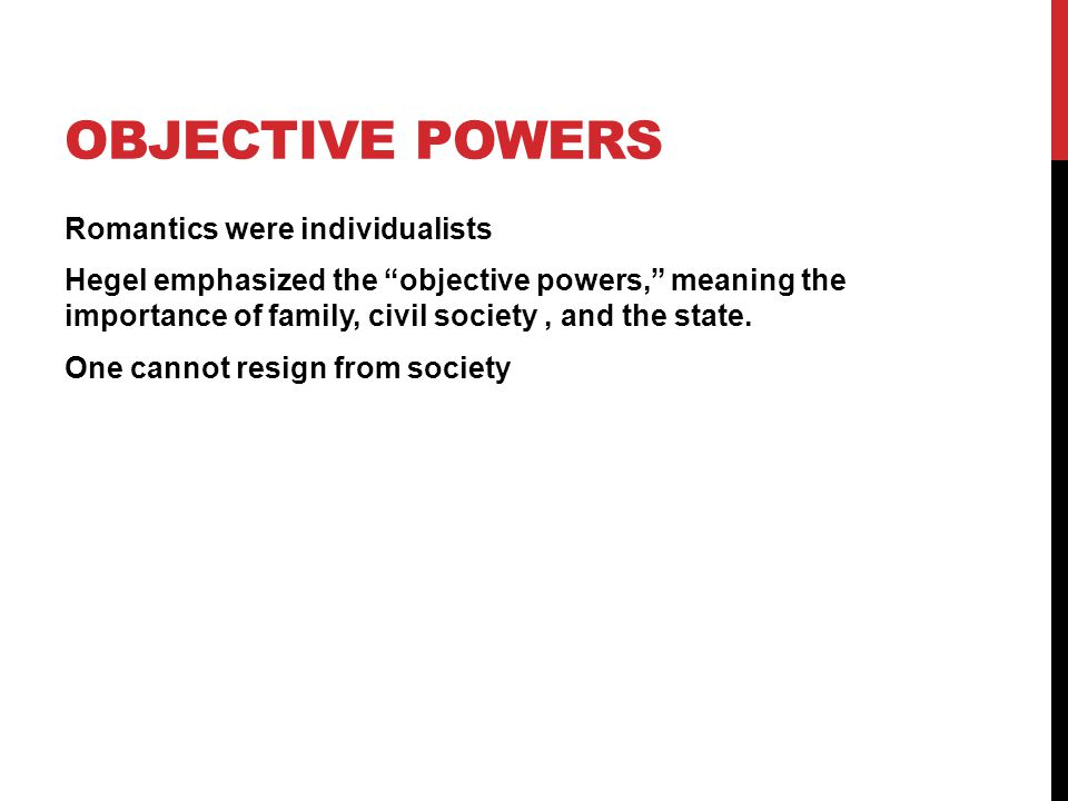 Objective Powers