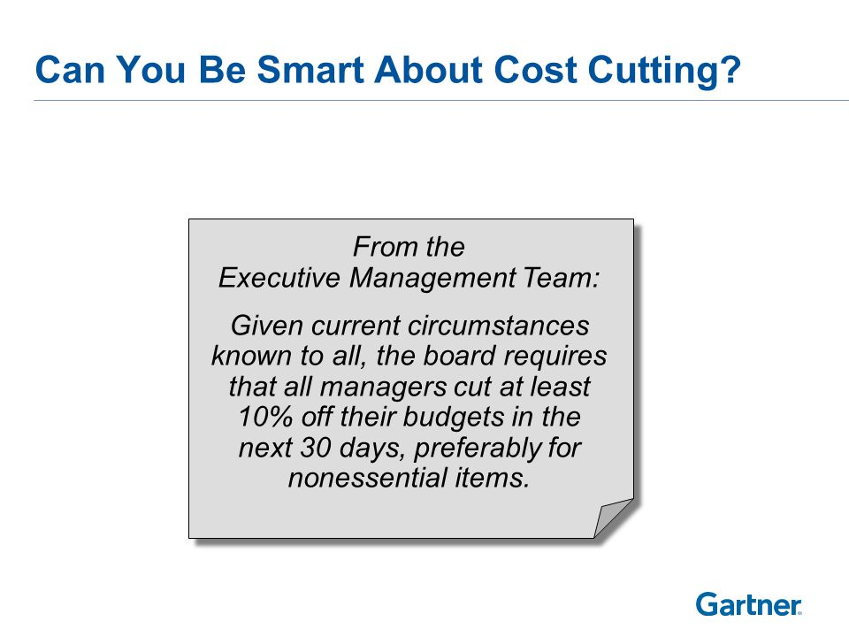 Intelligent Cost Optimization Is Required