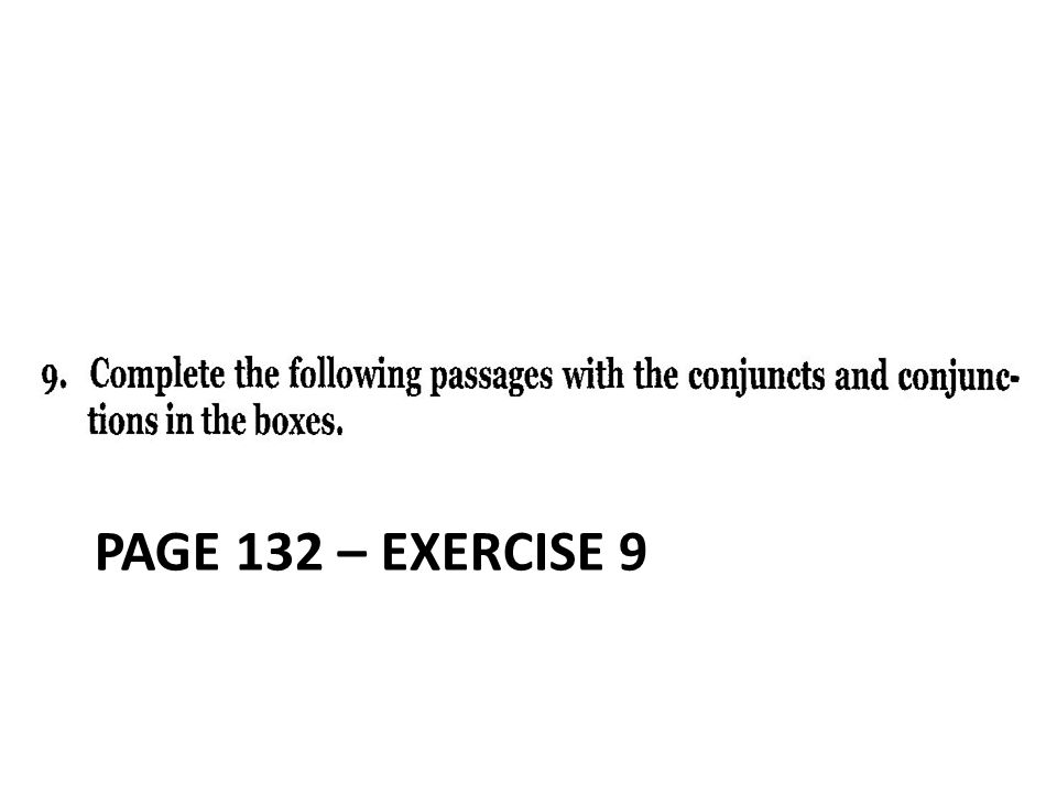 PAGE 132 – exercise 9