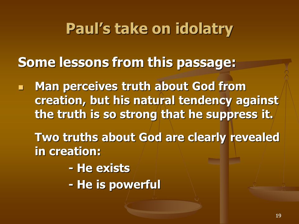 Paul's take on idolatry